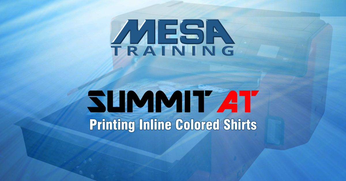 Summit AT DTG Printer Training: Printing Inline Color Shirts
